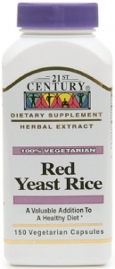 21st Century Red Yeast Rice 600mg Capsules- 150ct