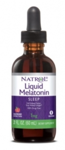 Natrol Liquid Melatonin Raspberry Natural Flavor - 2 oz