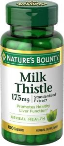 Nature's Bounty Milk Thistle Natural Capsules 100ct