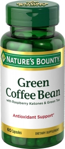 Nature's Bounty Green Coffee Bean with Raspberry Ketones & Green Tea Capsules 60ct