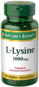 Natures Bounty L-Lysine 1000 mg Tablets 60ct