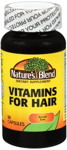 Natures Blend Vitamins For Hair Capsules 50ct