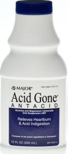 Major Rugby Acid Gone Antacid Liquid- 12oz
