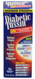 Maximum Strength Diabetic Tussin DM Expectorant Cough Supressant - 8 fl. oz.