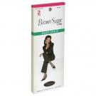 L'eggs Brown Sugar Knee High Panty Hose, Medium, Off Black - 2 pack
