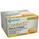 Clever Choice ComfortEZ Insulin Syringes 29 Gauge, 1cc, 1/2