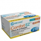 Clever Choice ComfortEZ Insulin Syringes 31 Gauge, 1/2cc, 5/16
