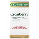 Nature's Bounty Cranberry Vitamin C Softgels, 60ct