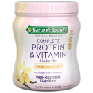 Nature's Bounty Optimal Solutions Complete Protein & Vitamin Shake Mix, Vanilla 16oz