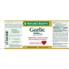 Nature's Bounty Odorless Garlic Tablets, 2000mg- 120ct