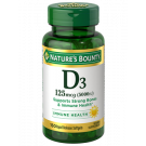 Nature's Bounty Vitamin D3 5000 IU Softgels 150ct