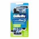 Gillette Custom Plus 3 Sensitive Disposable Razors 4ct
