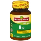 Nature Made Vitamin B-12 500mcg Tablets 200ct