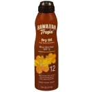 Hawaiian Tropic Tanning Dry Oil Clear Spray Sunscreen SPF 12 6 oz