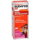Sudafed PE Children's Non-Drowsy Nasal Decongestant, Berry- 4oz