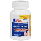 GNP Aspirin 81mg Tablets 300ct
