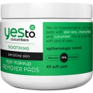 Yes to Cucumbers Eye Makeup Removing Pads - 45ct