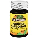 Nature's Blend Ferrous Gluconate Dietary Supplement Tablets, 100 Ct