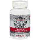 Windmill Calcium Carbonate 600 mg Tablets With Vitamin D  60ct