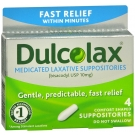 Dulcolax 10mg Suppository - 4ct