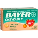 Bayer Aspirin Low Dose Chewtab Orange 36ct