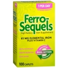 Ferro-Sequels High Potency Iron 65 mg Supplement Caplets - 100ct