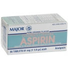 Major Children's Chewable Aspirin 81mg 36 Tablets