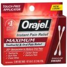 Orajel (Benzocaine 20%) Medicated Toothache Swabs - 12 Unit-Dose Swabs