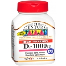 21st Century, High Potency D3-1000 IU 110 Tablets