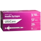 UltiCare Insulin Syringe, 29 Gauge, 3/10cc, 1/2