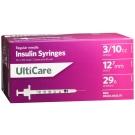 UltiCare Insulin Syringe, 29 Gauge, 3/10cc, 1/2