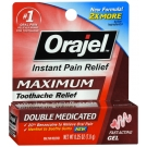 Orajel Maximum Strength Toothache Pain Relief Gel 0.25 Oz