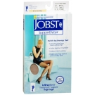 Jobst UltraSheer, Thigh High, 8-15mmHG Compression, Silky Beige, Medium, 1 Pair