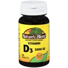 Nature's Blend Vitamin D3 2000 IU Super Strength Tablets, 100 Ct