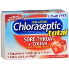 Chloraseptic Total Sore Throat + Cough, Sugar-Free Lozenges, Wild Cherry, 15ct