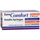 SureComfort Insulin Syringe 30 Gauge, 1/2cc, 1/2