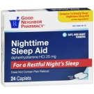 GNP Nighttime Sleep Aid Mini-caplets 24 Mini Caplets
