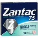 Zantac 75 OTC - 10 Tablets