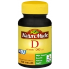 Nature Made Vitamin D3 1000 IU Tablets 100ct