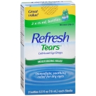 Refresh Tears, Lubricant Eye Drops, 2 Bottles, .5 fl oz
