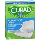 Curad Sterile Non Stick Adhesive Pads, 3' x 4', 10 Ct