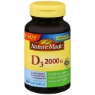Nature Made Vitamin D3 2000 I.U. Liquid Softgel 250ct