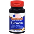 GNP Vitamin B-Complex + C Supplement 100 Tablets