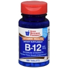 GNP Vitamin B-12 500mcg 100 Tablets