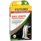 FUTURO Anti-Embolism Stockings, Knee Length, Closed Toe, Medium Regular, White 1 Pair