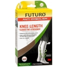 FUTURO Anti-Embolism Stockings, Knee Length, Closed Toe, Large Regular, White 1 Pair