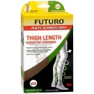 Futuro Anti-embolism Thigh Length, Closed Toe Stockings, Large, Regular, White - 1 Pair