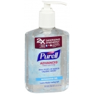 Purell Advanced Hand Sanitizer, Pump, Original, 8 fl oz