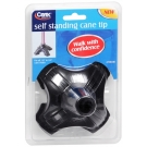 Carex Self Standing Cane Tip, Black