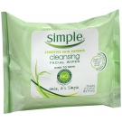 Simple Cleansing Facial Wipes 25ct